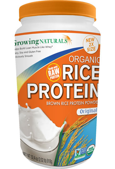 Growing Naturals Rice Protein Isolate Powder Origin Flavor 459g