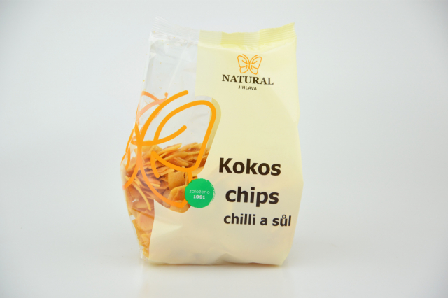 Natural Jihlava Kokos chips chilli a soľ 100g
