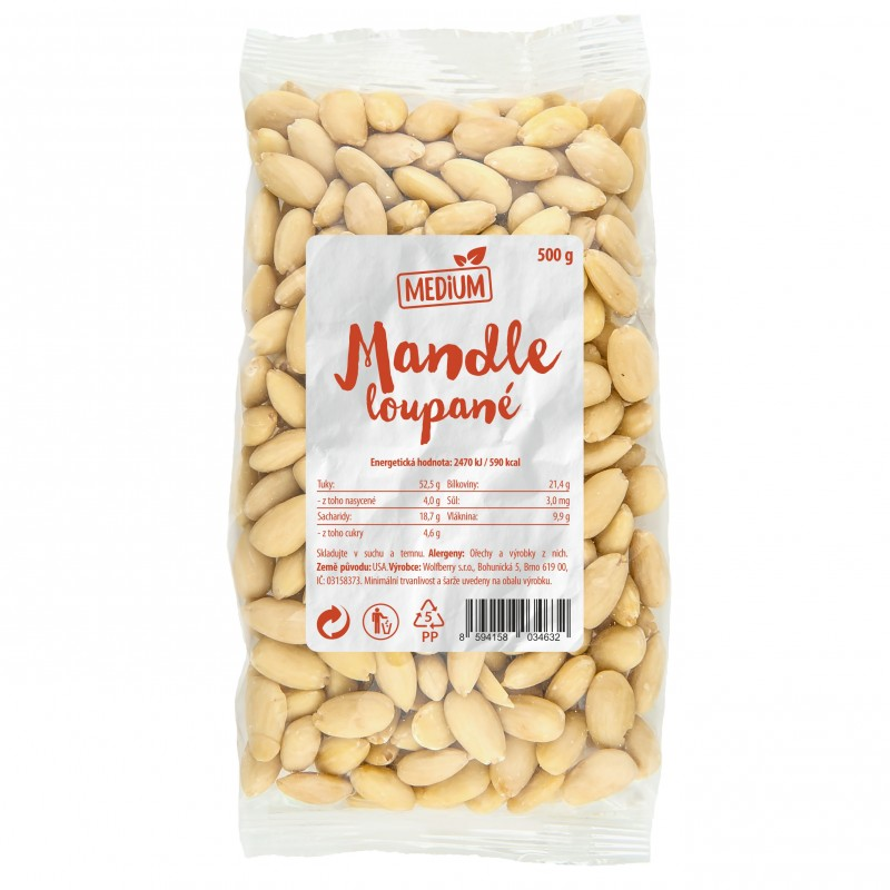 Wolfberry Mandle lúpané Medium 500 g