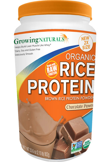 Growing Naturals Rice Protein Isolate Powder Chocolate Power 952g
