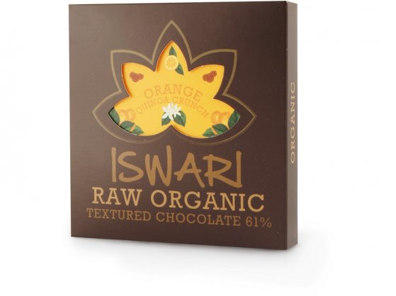 Iswari Raw čokoláda Orange Quinoa Crunch BIO 75g